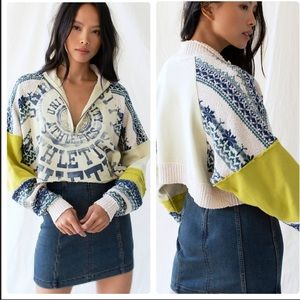 Free People Post Ski Pullover in Mountain Combo